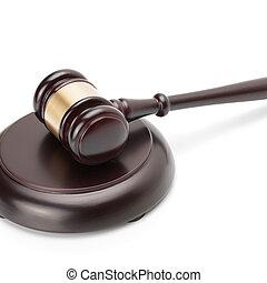 proportion, caisse de résonnance, bois, -, isolé, 1, juge, fond, marteau, blanc