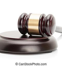 proportion, caisse de résonnance, -, isolé, 1, juge, fond, marteau, blanc