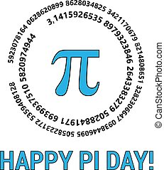 proportion, s, pi, mars, jour, circonférence, diameter., constant., heureux, sien, célébrer, 14th., cercle, mathématique, day.