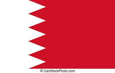 proporzione, ufficiale, vettore, bahrain, correttamente, colori, bandiera