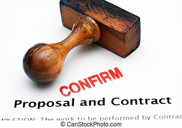Proposal and contract - confirm