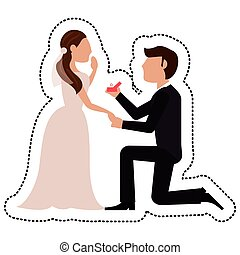 proposal groom bride wedding