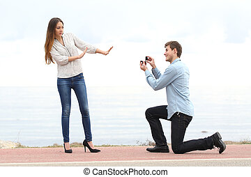 Proposal rejection when a man asks in marriage to a woman