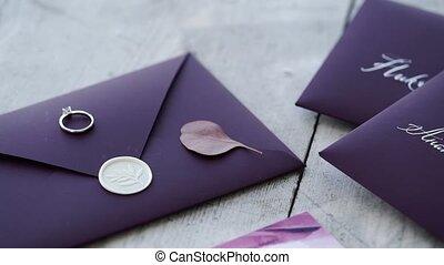 Proposal ring on violet background - Proposal ring on violet...