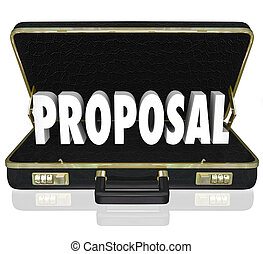Proposal Sales Presentation Open Briefcase - The word...