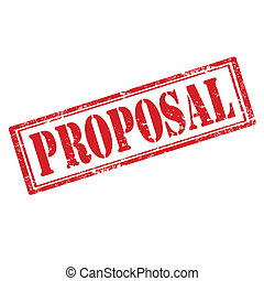 Proposal-stamp - Grunge rubber stamp with text...
