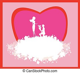 proposal wedding - couple silhouette card