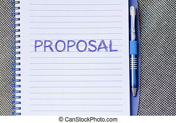 Proposal write on notebook