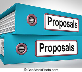 Proposals Folders Mean Suggesting Business Plan Or Project -...