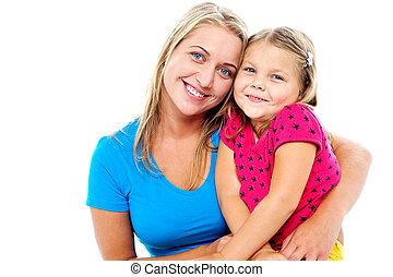 proposta, adorabile, figlia, mamma, insieme