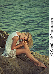 proposta, biondo, bellezza, paradiso