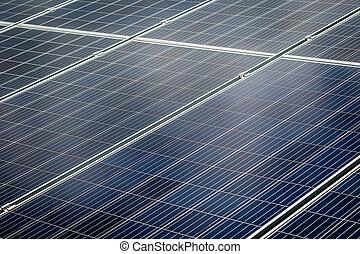 propre, énergie solaire, cellule
