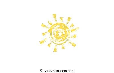 propre, étoile, autour de, lumière, rotates., sun., la terre, sien