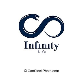 propre, forme, emblème, manger, tattoo., sien, ancien, uroboros, cycle, logo, vie, infinité, symbole, illustration, symbole, serpent, mort, ouroboros, interminable, vecteur, conte, ou