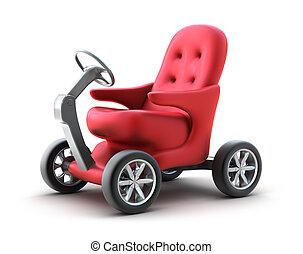 propre, individu, voiture., petit, conception, mon