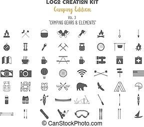 propre, randonnée, création, symboles, édition, extérieur, ...