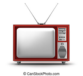 propre, tv, set., retro, mon, design.