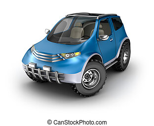 propre, voiture, concept., offroad, mon, design.