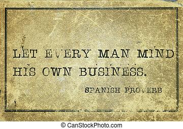 propres affaires, sp