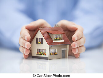 propriété, assurance, concept