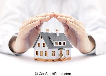 propriété, concept, assurance