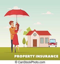 propriété, concept, conception, assurance
