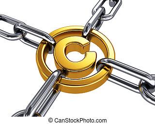propriété, concept, droit d'auteur, intellectuel