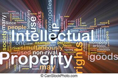 propriété, concept, intellectuel, fond