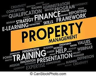 propriété, gestion, mot, nuage
