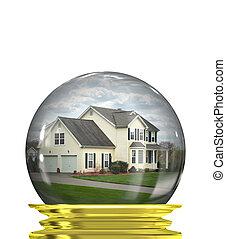 propriété, marché, prévisions, vrai