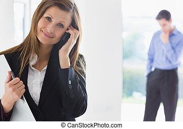 propriété, téléphone, décider, agent, homme