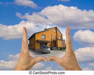 propriété, vrai, maison, ventes