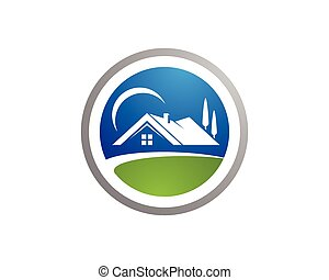 propriedade, logotipo, construção, desenho