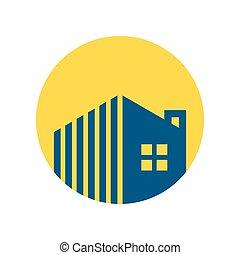 propriedade, logotipo, gerência, circular