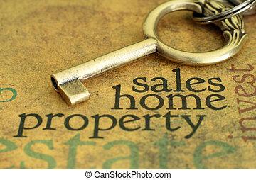 proprietà, casa, concetto, vendite