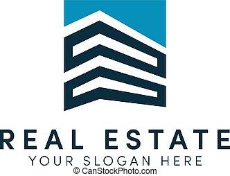 proprietà, logotipo, costruzione, semplice, moderno, reale