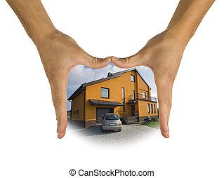 proprietà, reale, casa, vendite