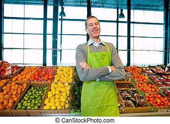 proprietario, supermercato