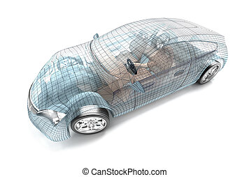 proprio, automobile, filo, model., mio, disegno, desi