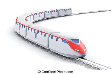 proprio, velocità, train., alto, mio, design.