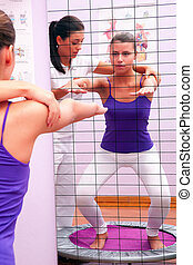 proprioceptive exercises for legs with elastic belt