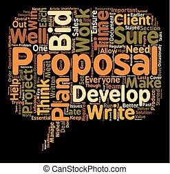 propsal, ganhe, texto, fundo, tu, seu, plano, conceito, wordcloud