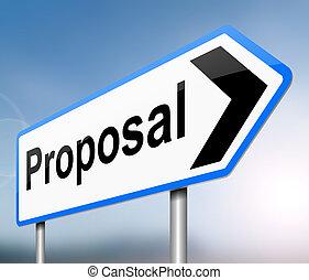 propuesta, concept.