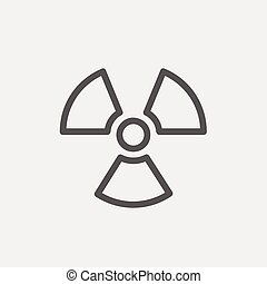 propulsor, línea, delgado, icono