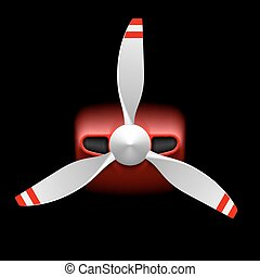 propulsor, luz, avión