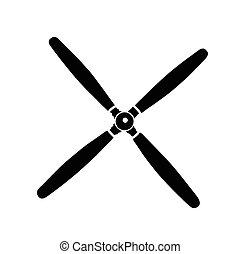 propulsor, vector, ilustración