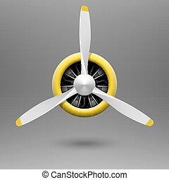 propulsor, vendimia, avión