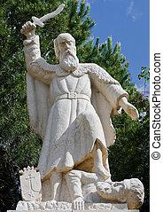 prorok, elijah, statua