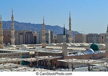 prorok, meczet, do góry, medyna, zamknięcie