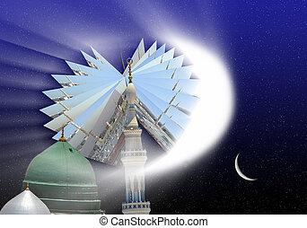 prorok, mo, meczet, nowy, fotografie